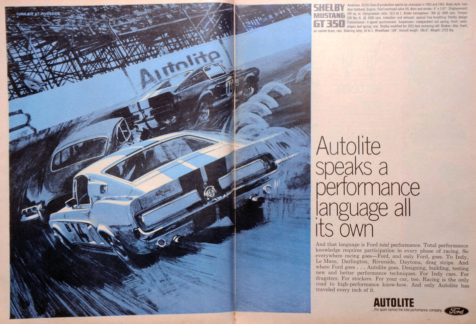 66 Shelby GT350 Race Ad Art