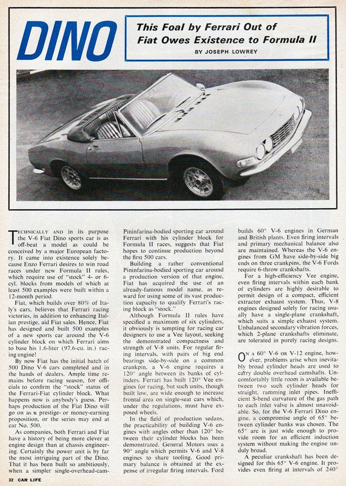 67 Ferrari Dino Story