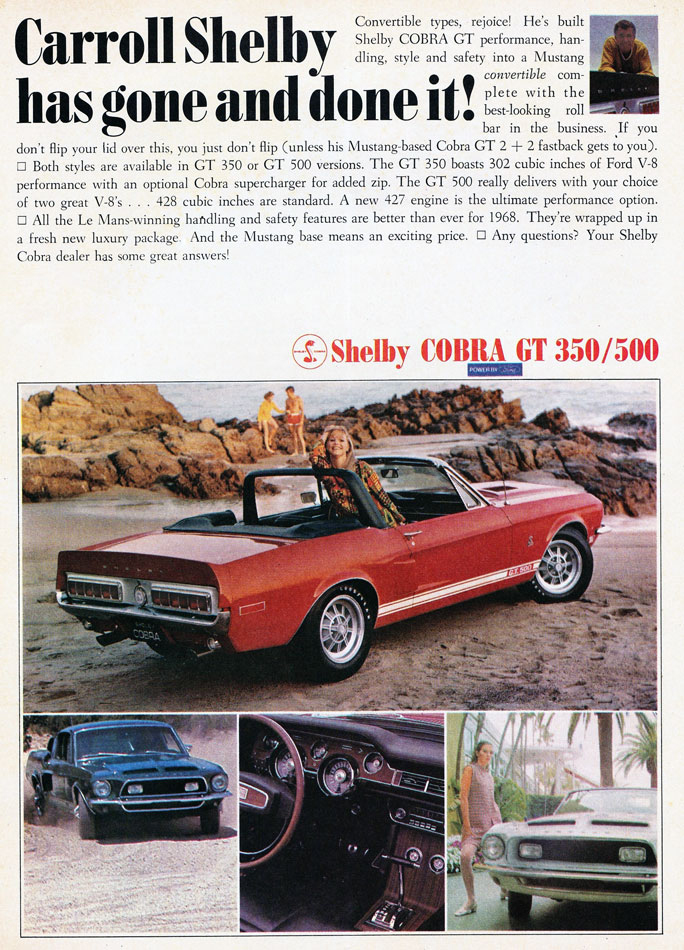 68 Shelby Cobra GT Carroll Has Gone And Done It Ad