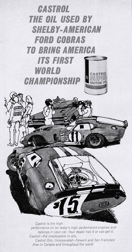 Ford Shelby Cobras Oil Ad