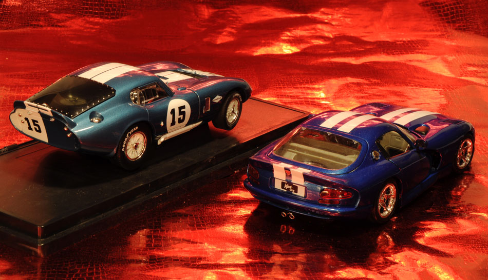 65 Shelby Cobra 96 Viper GTS Coupe