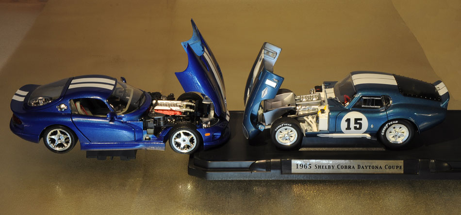 96 Dodge Viper GTSC oupe And 65 Shelby Cobra